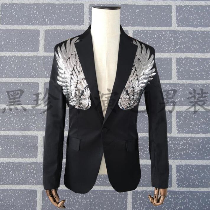 Men Suits Designs Homme Terno Stage Costumes Personalized Singers Men Sequin Blazer Dance Clothes Jacket Star Style Dress Punk