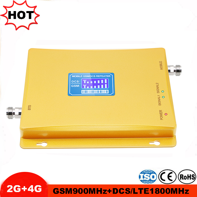 Dual Repetidor 1800mhz DCS Cell Phone Booster GSM 900 1800 Repeater 2G 4G Cellular Signal Booster