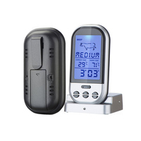Free Shipping Wireless Digital BBQ Food Thermometer Electronic BBQ Thermometer All Kinds Of Meat Food Cooking