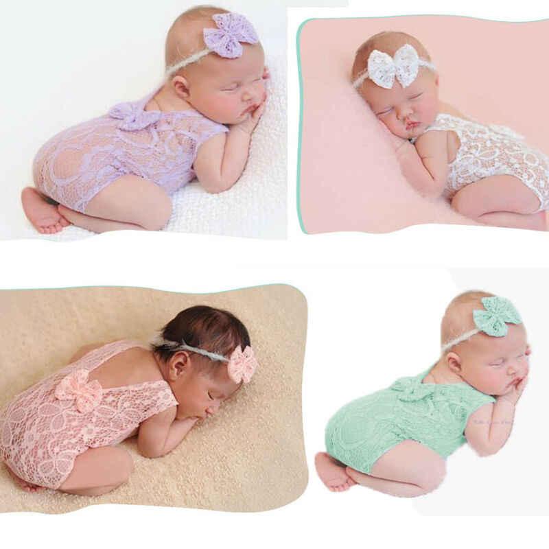 Bufanda de utilería para niños recién nacidos con estampado Floral chal manta de encaje con flores envuelta para niños manta fotografía abrigo 0-1M