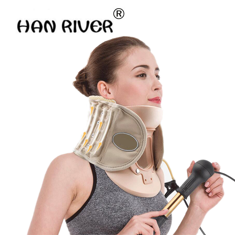 NEW Neck natural curvature inflatable neck brace Cervical tractor Vertebra Traction Air Cushion tractor inflatable belt Brace manual neck traction pillow pneumatic neck tractor massager inflatable cervical vertebra tractor for neck headache back pain 0