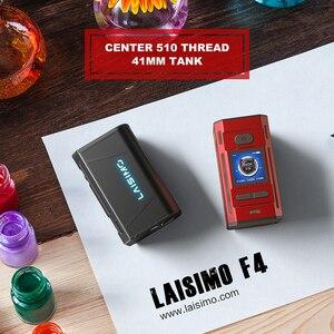Image 2 - Trasporto libero di promozione Originale Laisimo F4 360W TC Box Mod Alimentato da 2 O 4 Batterie NI200 Ti SS Sigaretta Elettronica mod Per 510 Discussione