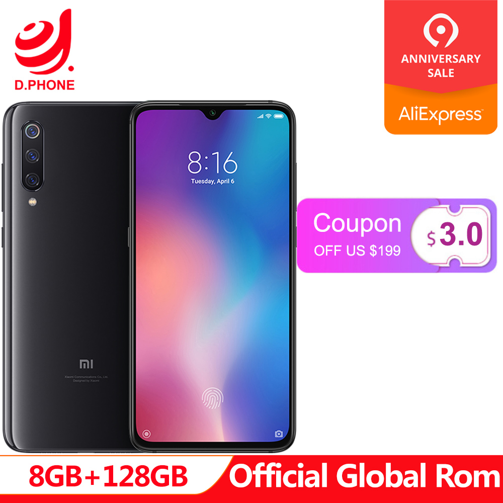 Global ROM Xiaomi Mi 9 Mi9 8GB RAM 128GB ROM Snapdragon 855 Octa Core 6.39