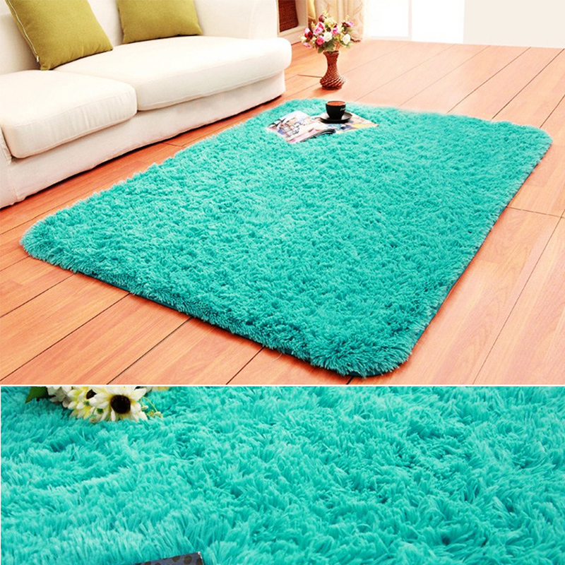 Solid Color Faux Fur White Plush Fluffy Rectangle Carpet For Living Room Bedroom Large Modern Round Rug Home Decorative Mat