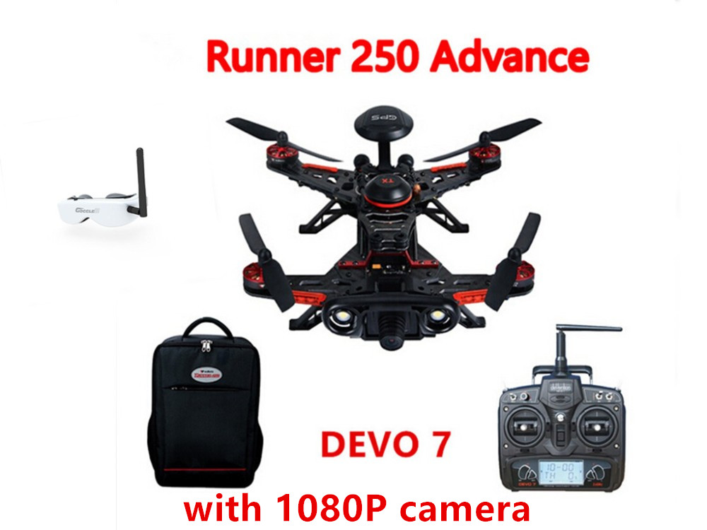 Walkera Runner 250 Advance GPS System RC Racer Quadcopter RTF with DEVO 7 Transmitter OSD 1080P Camera GPS Goggle 2 F19357 датчики