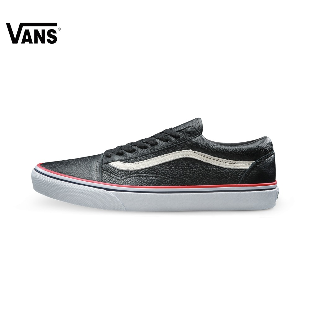 Original Vans Classic Vans Unisex Skateboarding Shoes Old Skool Sports Shoes Sneakers Outdoor Sports Comfortable Breathable