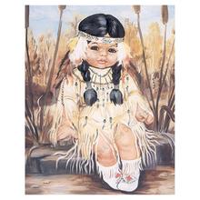 RA0570 NEW Full Square Diamond 5D DIY Diamond Painting Little Girl Embroidery Cross Stitch Rhinestone Mosaic Painting Decor