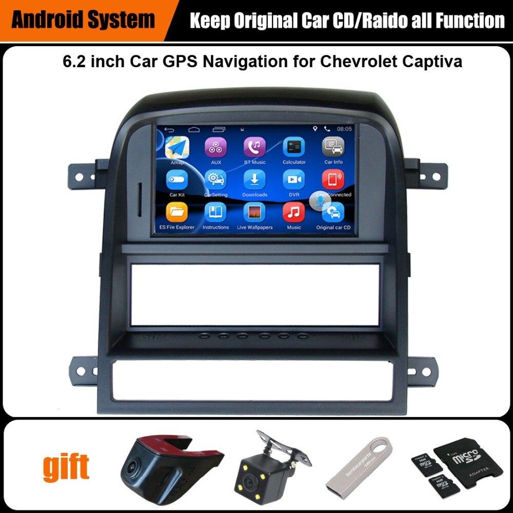Mise à niveau D'origine Voiture Radio Lecteur Costume pour Chevrolet Captiva 2008-2011 Navigation GPS De Voiture Vidéo Lecteur WiFi Bluetooth