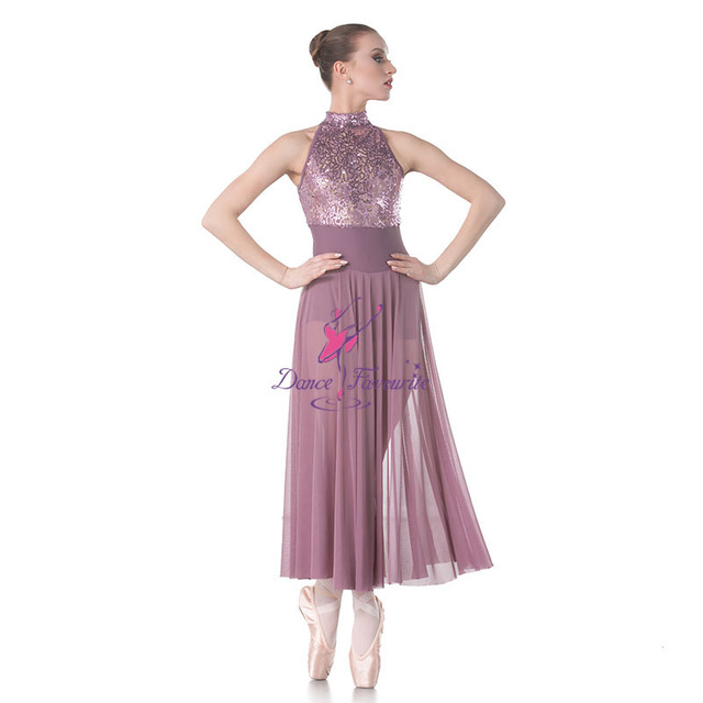 582145c2af3a Sequin Lance Bodice with mesh Long Skirt Lyrical Dance Costumes Ballet Dress  Stage & Performance Dance Costumes