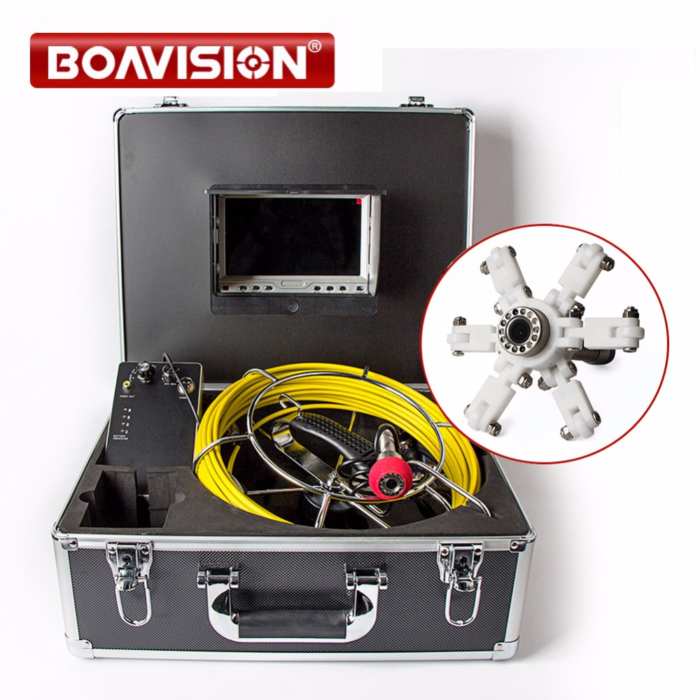 20m Cable Underwater Video Duct Pipe Inspection Camera CMOS 1000TVL 12Pcs White LED Lights Sewer Camera 7 Inch LCD Monitor 7 tft sewer pipe inspection snake video camera 600tvl 12 led 30m osd regulation stainless steel lens pipeline drain w2022