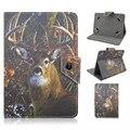 Caja de la Tableta Universal de 7 Pulgadas Para Antílope Patrón Elefante Hebilla Magnética Del Soporte Del Tirón Del Caso de La Cubierta Protectora Para 7 Pulgadas Tablet