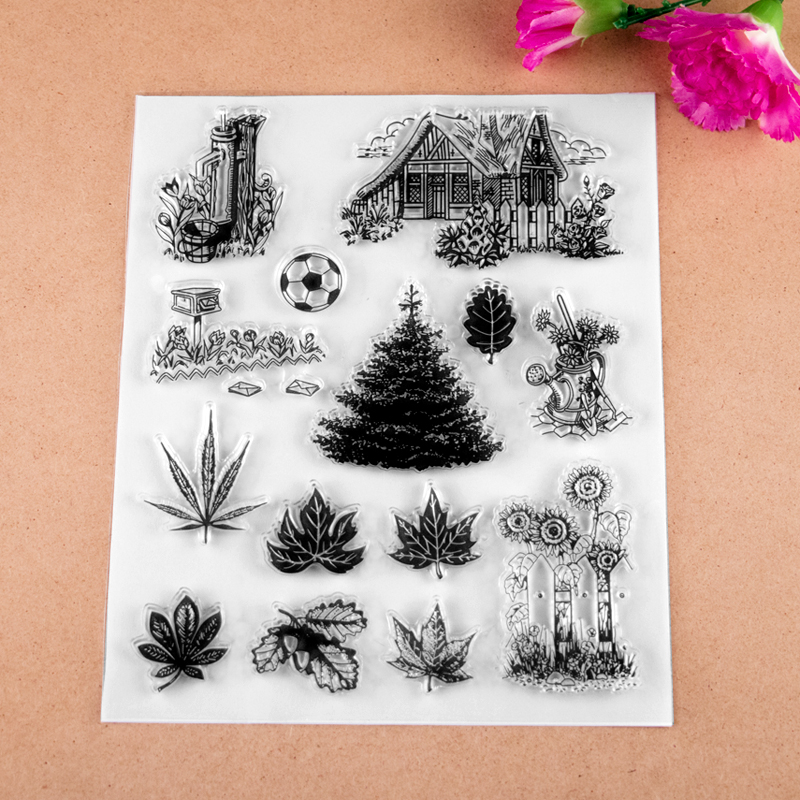 Country life Elements Transparent Clear Stamp For DIY Scrapbooking Decorative card making craft