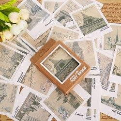 40 шт./кор. ретро Европа пейзаж мини-открытка Почтовые открытки на день рождения с буквенным принтом конверт подарочный набор карт открытка