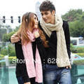 Ultra long solid color scarf lovers' knitted autumn and winter lovers' scarf line scarf male&female scarves free shipping