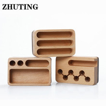 Creative Wooden Business Card Holder Desk Display Stand Organizer Storage Box Office Accessories Delicate Practical