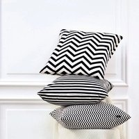 collalily black white back sofa bed Modern Striped plaid Cushion geometric Throw Pillow decorative French chic