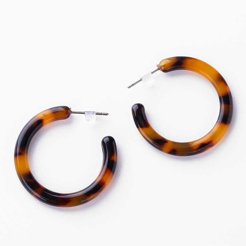 Tortoiseshell Brincos Earrings for Women Round Circle Stud Earring For Women Elegant Design Jewelry Birthday Gift pendientes