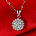 0.52CT  Handmade 18K Gold Natural Diamond Pendant Necklace for Women Wedding Engagement Party - Free DHL Shipping