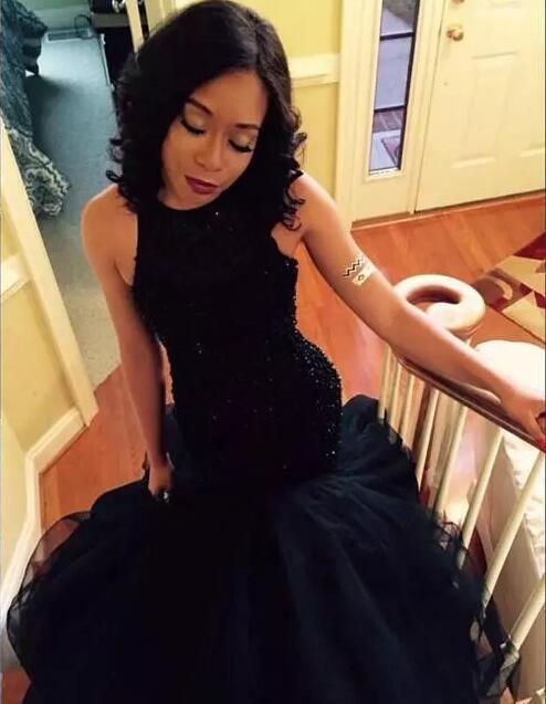 Evening Dress 2017 Neck michael korns Crystal Beaded Prom Dresses Mermaid Hollow Back Long Sweep Train Formal Party dresses