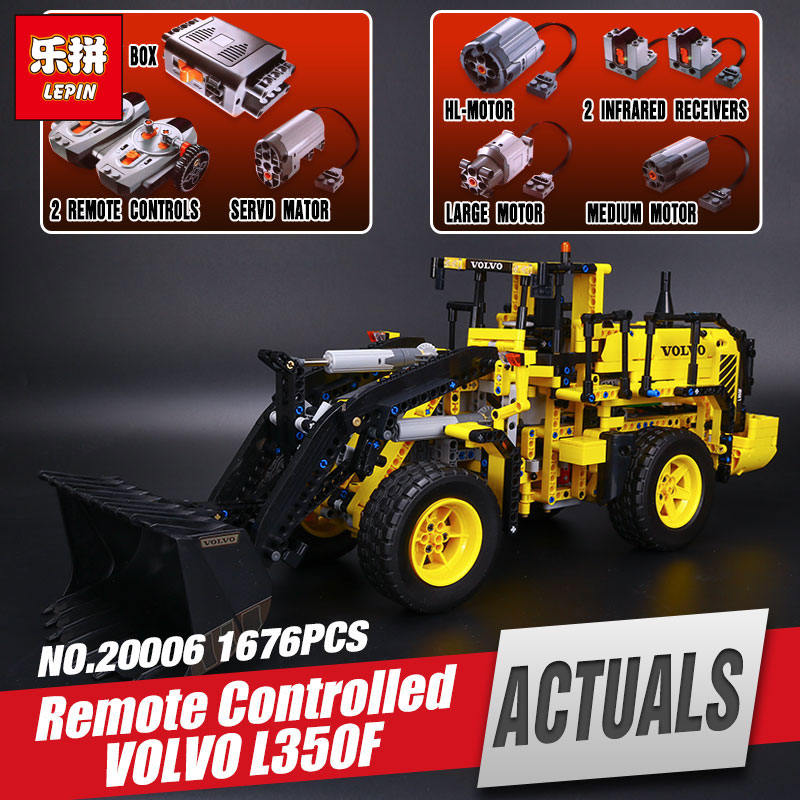 NEW LEPIN 20006 Genuine technic series 1636pcs Volvo L350F wheel loader Model Building blocks Bricks Compatible with 42030 Gift