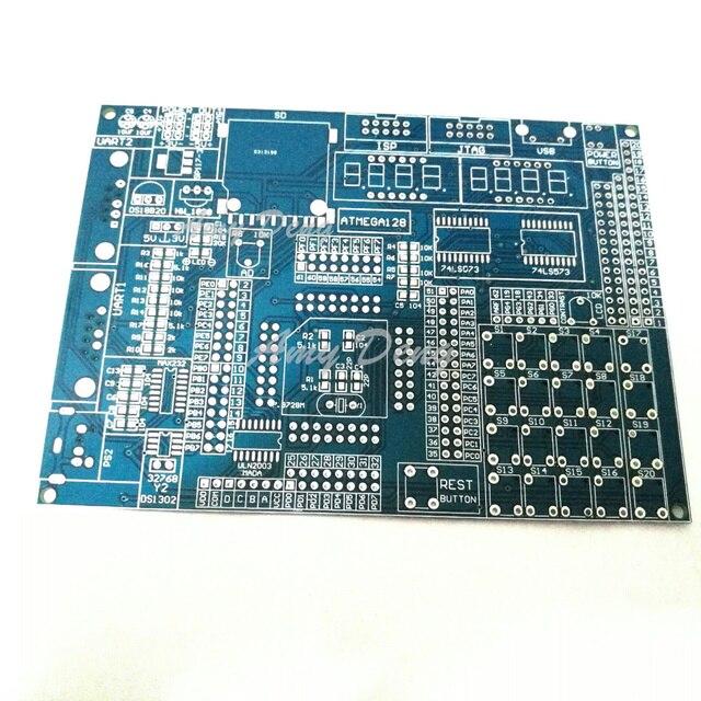 2 pz/lotto ATMEGA128 scheda di sviluppo scheda di test a bordo piatto vuoto componenti SMD saldati piastra di contatto bordo del PWB vuoto