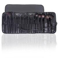 BBL 24 шт + крокодиловый черный кожаный чехол Профессиональный набор кистей для макияжа контурирующая Пудра Набор кистей для основы аппликато...