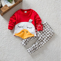 2016 Toddler Boys Clothing Set Pullover Cotton Long Sleeve Top+Pants Children Clothing Set for Autumn  Toddler Clothes