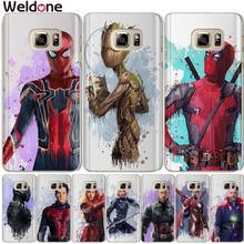 Fashion Marvel Avengers Case For Samsung S9 Plus S7 S6 Edge S8 G530 J3 J5 2016 2017 J2Prime Deadpool Groot case cover etui