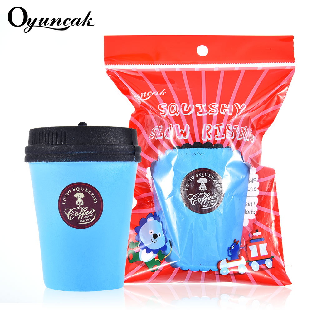 Oyuncak Squishy Coffee cup Squishe Antistress Novelty Gag Toys For Childern Stress Relief Toys Anti-stress Fun Gadget Surprise 32pcs lot dhl free shipping high quality fidget toys edc hand spinner for autism and adhd anxiety stress relief toys