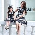 2016 лето девочка одежда Семья посмотрите мать дочь платья женские летние вскользь платья девушки платье принцессы vestidos
