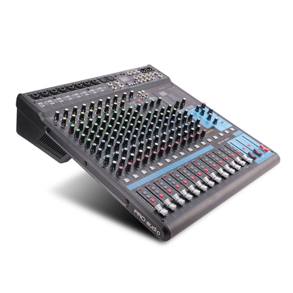 G-MARK mg16mp3 16 canais de áudio mixer console 24-bit spx efeito digital 26 idiomas escolher 2 display bluetooth usb carregamento