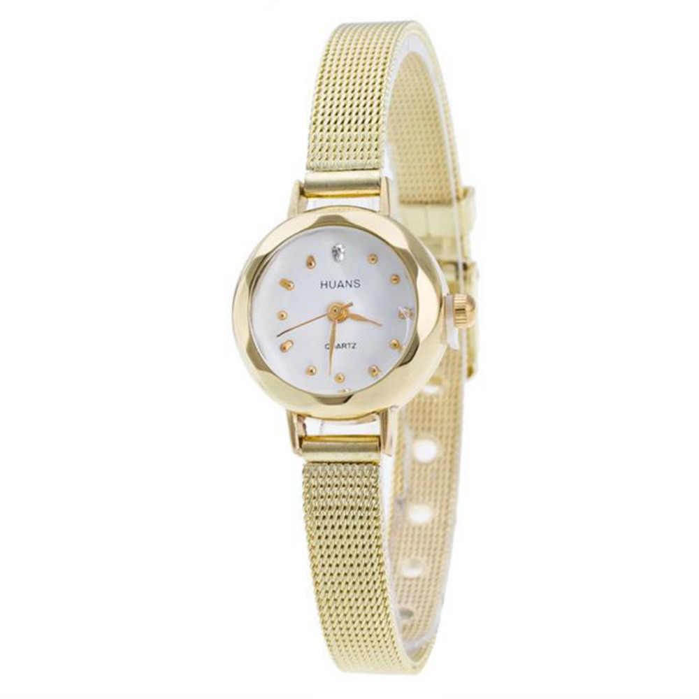 Phong cách mới Montre Femme Đồng hồ thạch anh Nữ ôm Nữ Lưới Thép Không Gỉ Đồng Hồ Đeo Tay nữ Đồng hồ nữ relojes # 0L