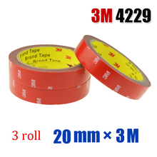 0 8 inch x 3 3 Yards 3M 4229 VHB Hi Temp Double Sided Automotive Tape