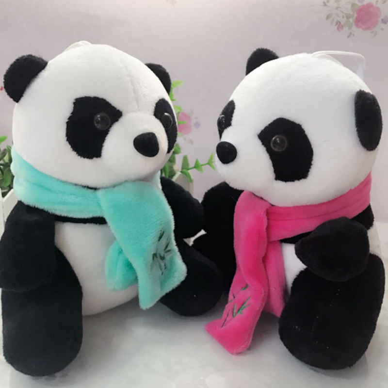 23cm Cute Cartoon Panda Plush Stuffed Animal Toys For Baby Infant Soft Cute Lovely Doll Gift Present Doll Children Toys