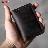The first layer of leather mini card bag coins purse multi function retro handmade original leather key bag practical wallets