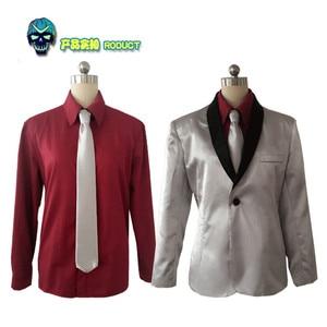 Бэтмен, отряд самоубийц, Джокер, костюм для косплея, мужской костюм клоуна Джареда лето, Серебряное пальто, экстрасенсы, костюм убийцы, костю...