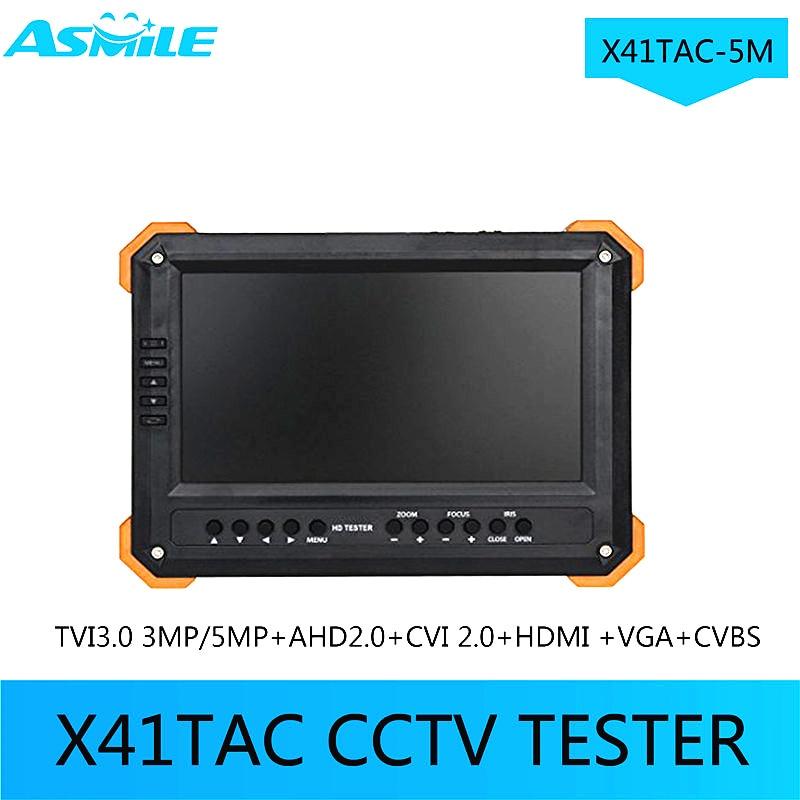 7 Inch TVI AHD Camera Tester CCTV Tester Monitor Analog HD TVI3.0 AHD2.0 1080P Camera Testing VGA HDMI Input 12V Ouput X41TAC