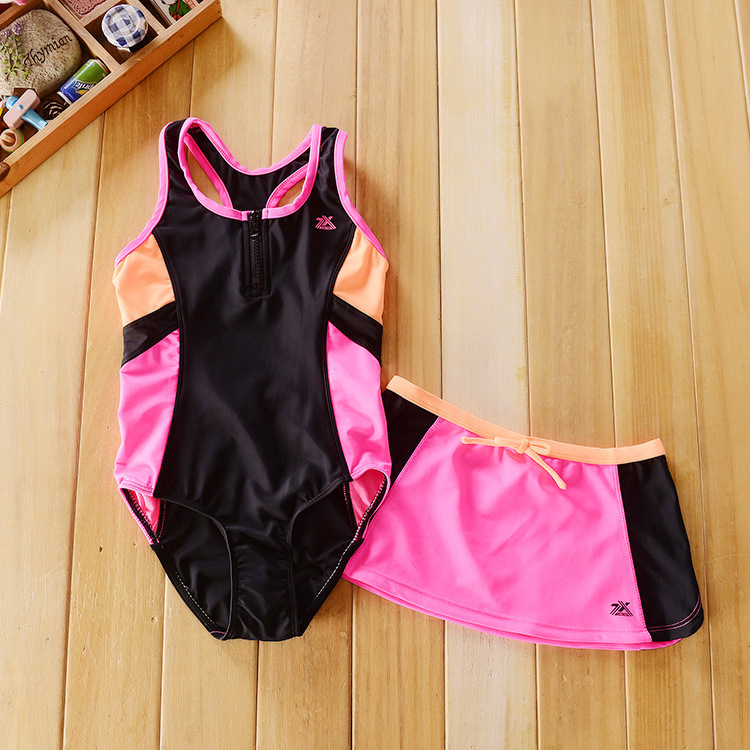 2598c9ef2e Baby Girls One Piece Swimsuits Children Professional Swimwear Kids Bathing  Suits Little Girl Cute Swimsuit With Swimming Skirts