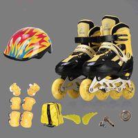 Регулируемый Детский Полный флэш прямой линии однорядные роликовые коньки, коньки, четыре колеса коньки костюм