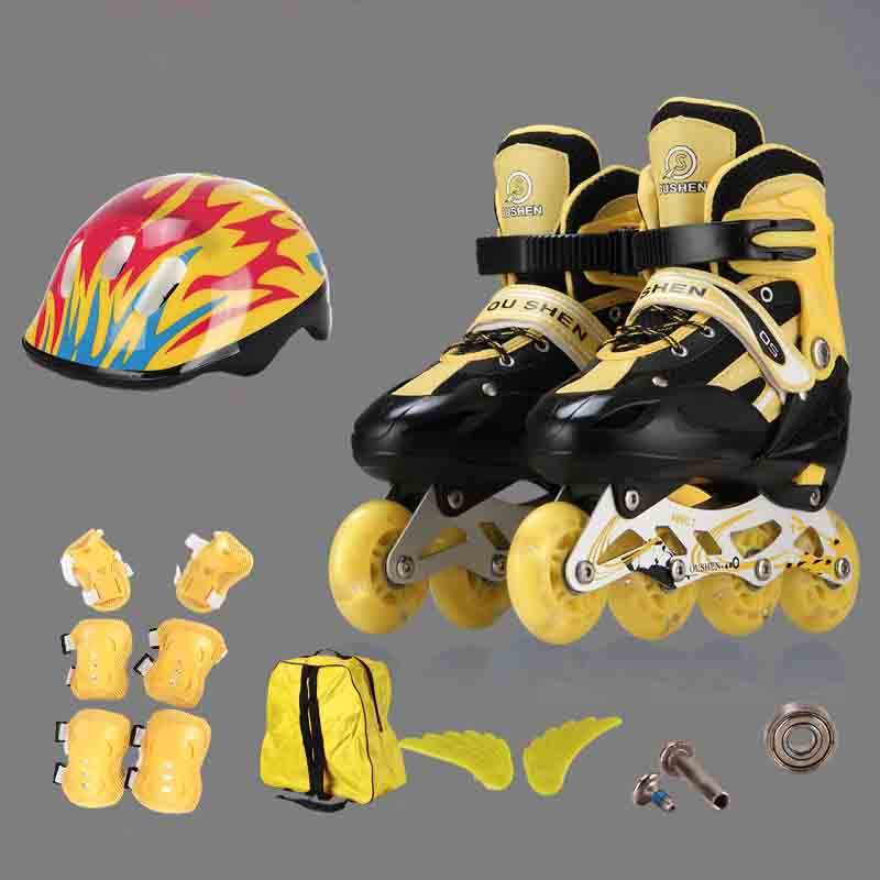 Patins à roulettes à une rangée, patins, patins à quatre roues réglables pour enfants