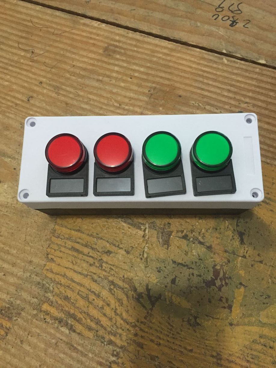 AC/DC 110V Electronic Machine Colored Pilot Signal Lamp Indicator Light 4 in 1