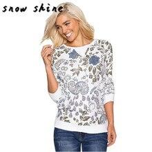 Snowshine #3065 Женщин С Длинным Рукавом Хлопок Повседневная Блузка Рубашка Топы бесплатная доставка(China (Mainland))