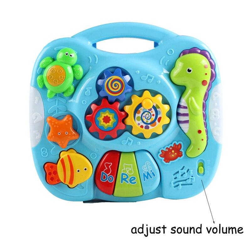 Bébé Multifonction Musique Table De Jeu Avec Les Lumières Marine Animaux Créative de La Petite Enfance Éducatifs École Bureau L789