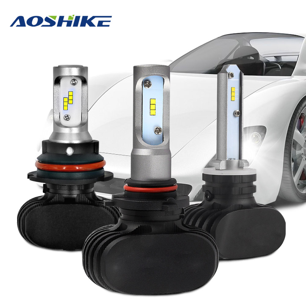 AOSHIKE 2PCS H8 H11 Lamp H4 H7 LED H1 H3 Car Headlight Bulbs For Auto S1 N1 H27 880 HB3 HB4 LED 12V 50W 8000LM 6000K
