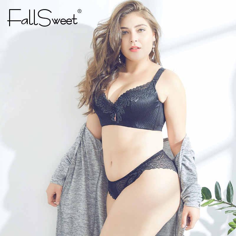 FallSweet D E Cup Push Up Bra Bộ Plus Size Nữ Bộ Đồ Lót Ren Nội Y Bộ Đồ Lót Áo Ngực và Quần