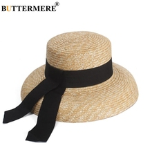 BUTTERMERE Sun Hat Womens Designer Straw Summer Beach Lady French Retro Wide Brim Fashion Brand Female