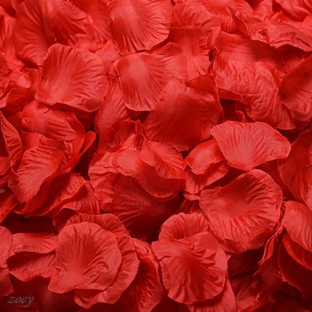 100pc Silk Artificial Decorative Flower Rose Petals Wedding Party