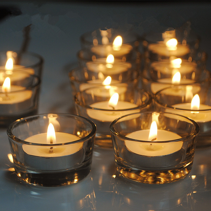 Candles Decoration: Candle Holder Simple Wind Glass Romantic Puzzle Simple And