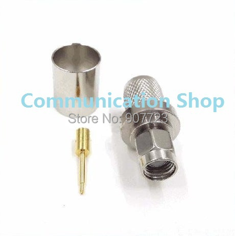 50PC SMA Male Plug Crimp For RG8 LMR400 RG213 RG214 RG165 Cable RF Connector