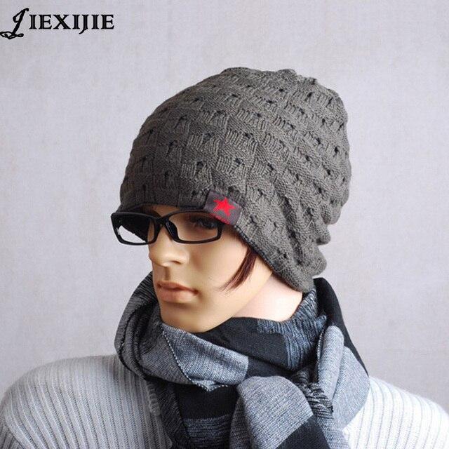 4cf6bb03f3e Autumn winter unisex knitted Skullies casual cap gorro men hat women hats  snow caps knit hat